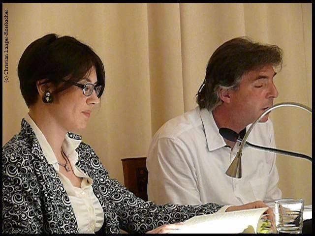 Bettina Rossbacher Österr. Gesellschaft für Literatur Wien (Karl Tschuppik). Mit Stefan Gmünder 2015